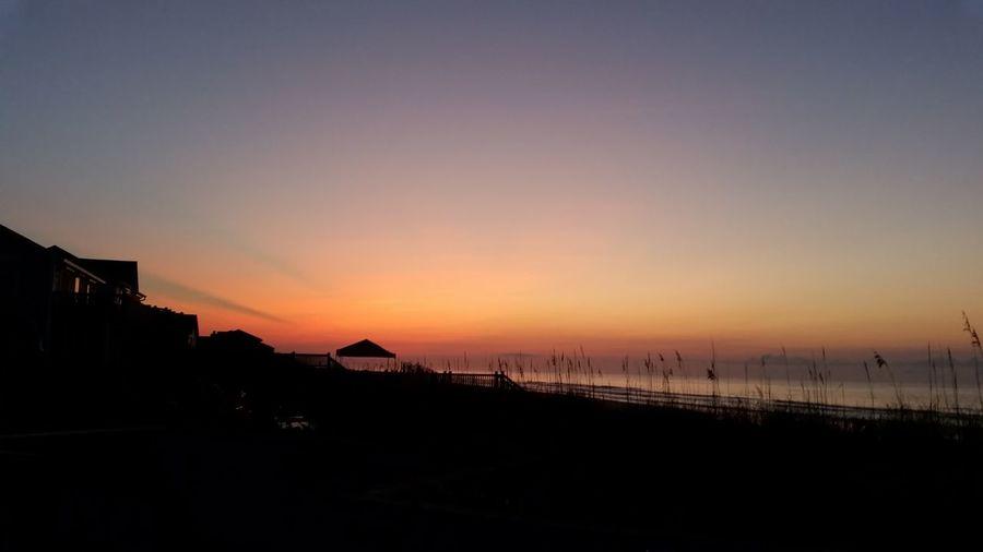 Sunrise Sunrise Over The Ocean Topsail Island, NC Ocean Beach Atlantic Ocean