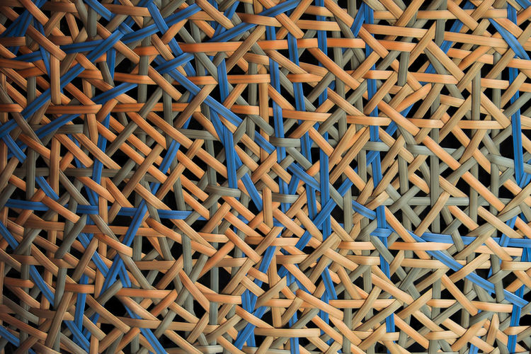 Backgrounds Full Frame Pattern Large Group Of Objects No People Abundance Textured  Indoors  Close-up Wood - Material High Angle View Heap Metal Blue Repetition