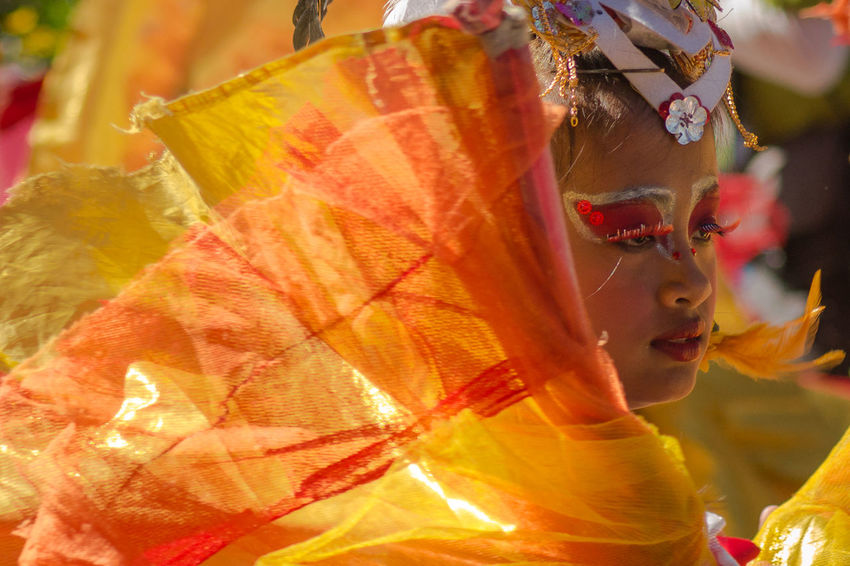 Fiery Elegance Baguio City Celebration Culture Cultures Elegance Everywhere Festival Fire Flowers Focus On Foreground Leisure Activity Orange Panagbenga Philippines Real People Tradition Colour Of Life Festival Season Color Palette