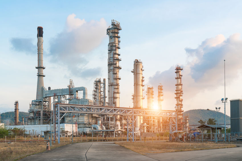 Oil refinery industry Architecture Building Exterior Built Structure Day Factory Fuel And Power Generation Industry No People Oil Industry Oil Refinery Outdoors Petrochemical Plant Refinery Sky Smoke Stack Technology