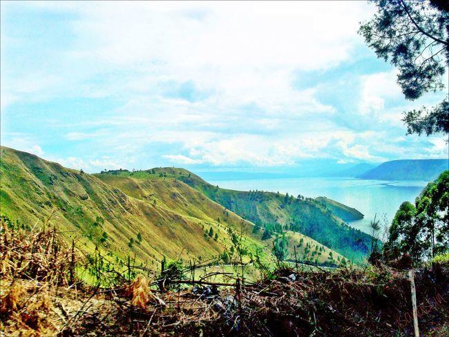 Landscape Nature at Toba Lake by isanassin