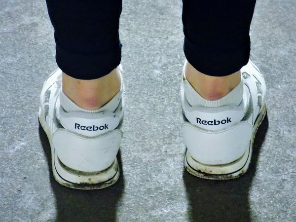 Low Section Standing Close-up People Outdoors Human Body Part Reebok Shoes Sneekers Cold November Autumn