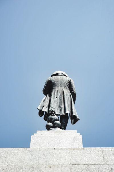 Napoleon Napoleon Bonaparte Ajaccio Corsica Corse Korsika Back Watch Your Back Backside Backstage Behind Behindthescenes The Story Behind The Picture Emperador Blue Sky Statue Rücken Ein Schöner Rücken Kann Auch Entzücken