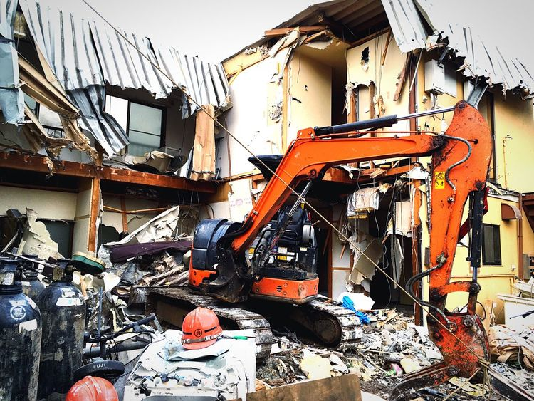 解体現場 重機 解体 Demolition Site Dismantling