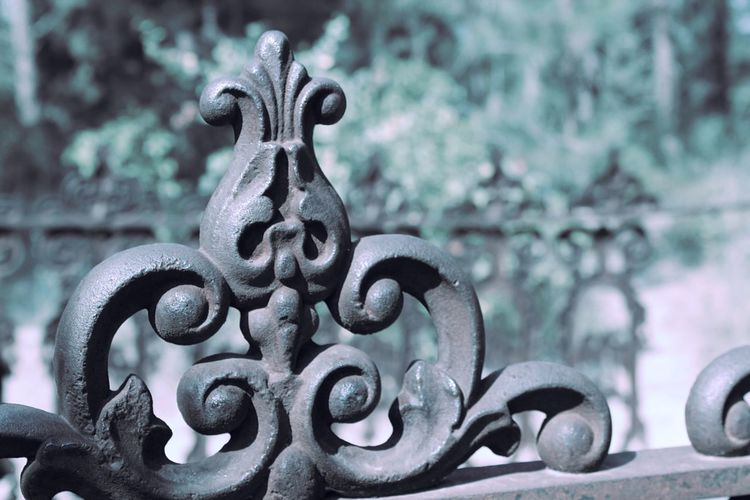 Metal Close-up Outdoors Focus On Foreground No People Wrought Iron Rusty Touch Of Color Wrought Iron Design