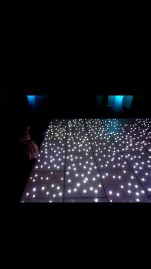 Illuminated Indoors  Night Technology No People 1st One On The Dancefloor Who Wouldnt Want To Dance On That Stars Wedding Pretty Dress Toddler  Family Time Magical Black White Colour Luton Luton Hoo Hotel Gardens Luton Hoo After Party Lights Blue Wedding Reception Lets Dance Dj