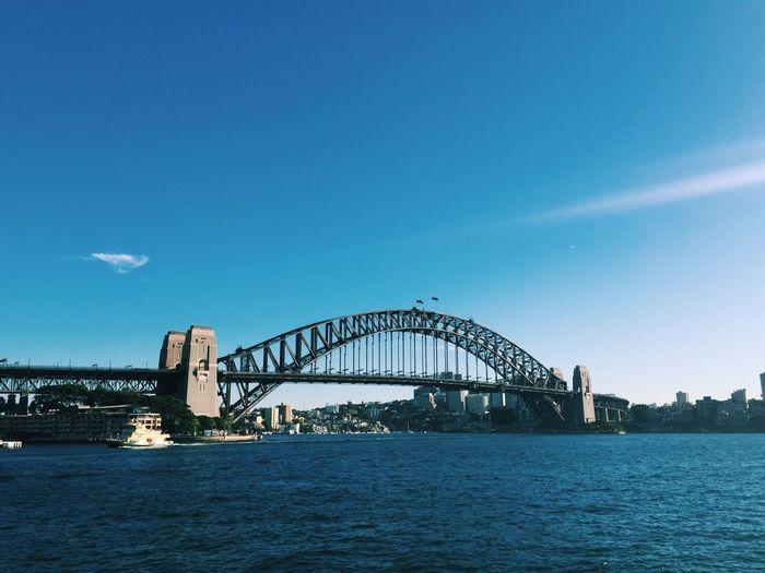 Sydney Harbor Bridge Over River Against Sky