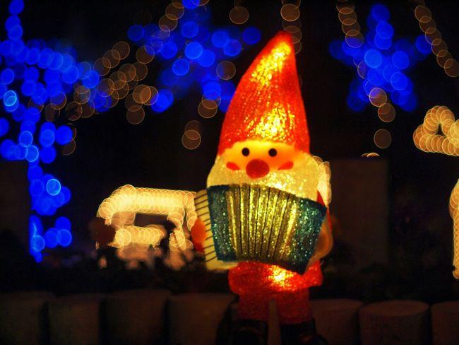 サンタクロース4 Hi! Enjoying Life Hello World サンタクロース Bokeheffect Nightview 玉ボケ Wintertime クリスマス Takumar Bokeh イルミネーション Illumination Night Lights Bokeh Bubbles