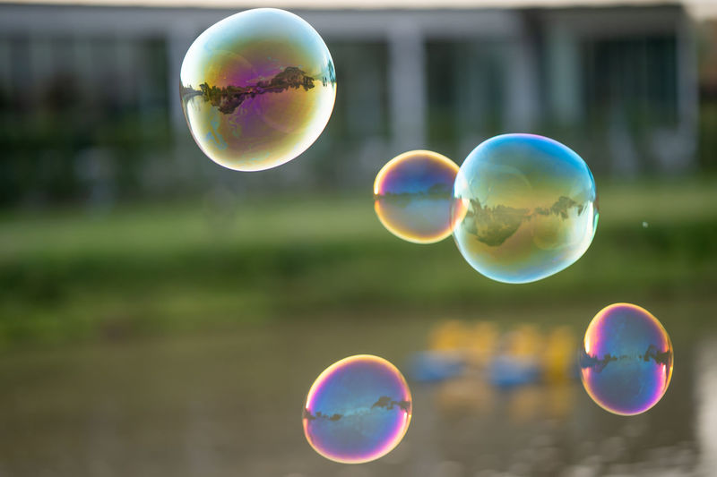 View of bubbles