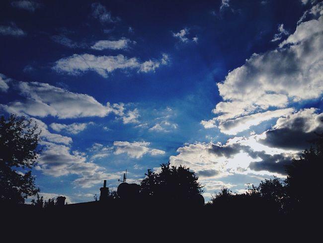 Tree Sky Blue Cloud - Sky Cloud Nature Dark