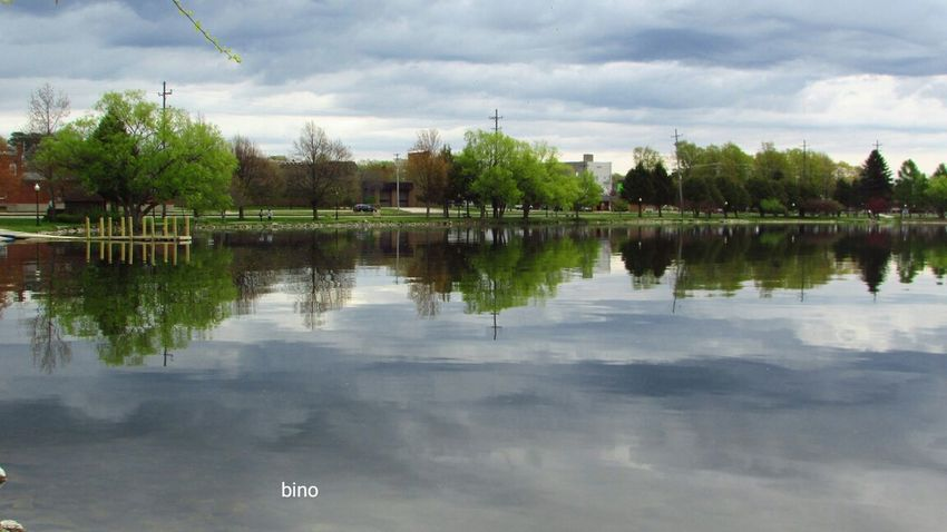 Cloudy Morning Around The Lake No People Cloud - Sky Reflection_collection Green Color Cool_capture_ Lake Cadillac Pure Michigan