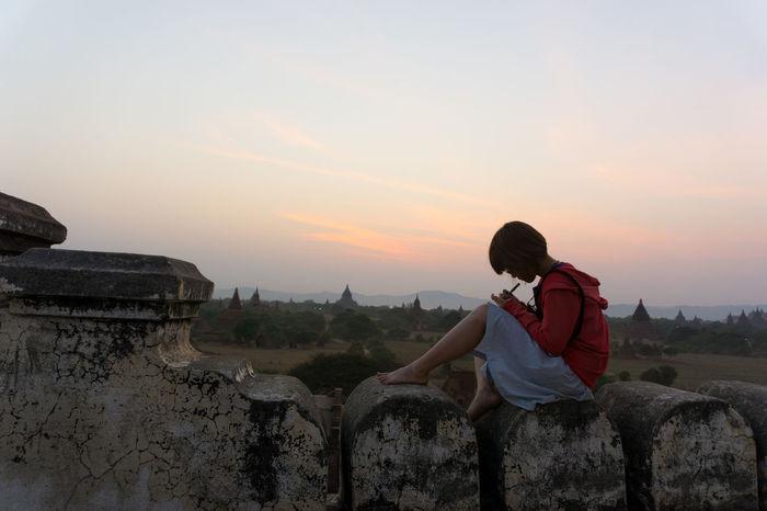 Bagan Bagan In MyanmarBeautiful Girld Landscape Myamar Pagoda Sadness Sunset Sunshine Religion Women Who Inspire You