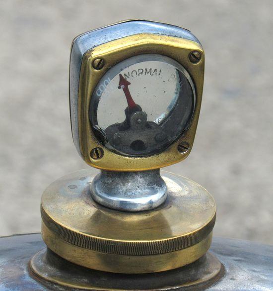 Morgan temperature guage Morgan Brass Close-up Guage Metal No People Outdoors Radiator Temperature Vintage Car