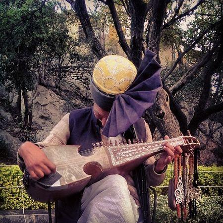 Musician playing the Rubab at Damanekoh Islamabad . beauty culture melodic Pakistan