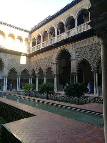 Sevillania Alcázares De Sevilla Sevilla Fuente EyeEmNewHere Architecture Architectural Column Travel Destinations History Arch Tourism Travel Built Structure Vacations Day Tree