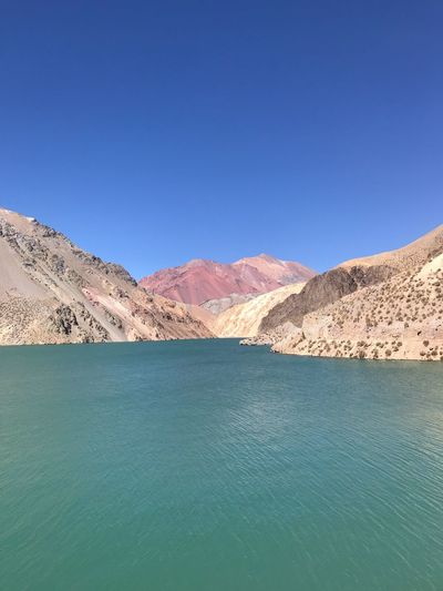 Palette Colors Lake Andes Scenics - Nature Sky Water Blue Copy Space Tranquility Tranquil Scene Idyllic Arid Climate