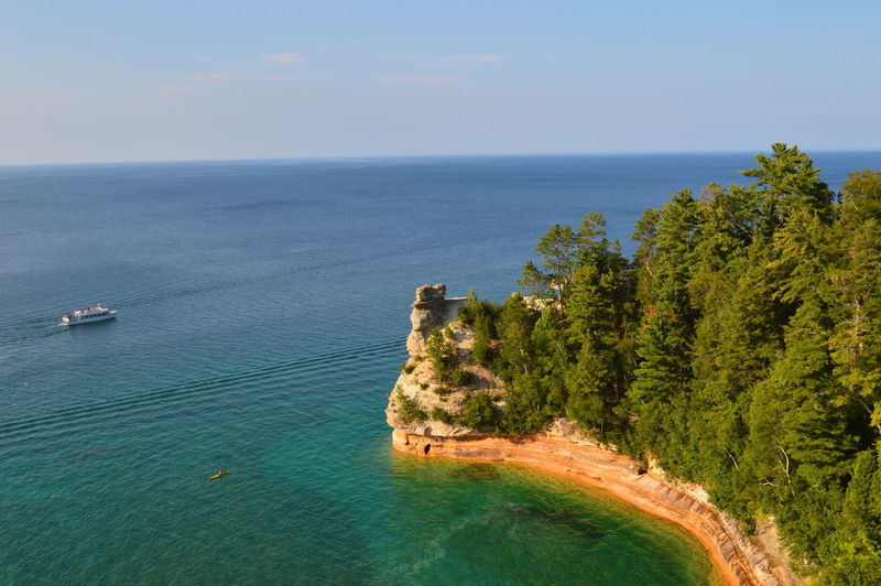 Picture Rocks National Lakeshore is a photographers dream come true. The colors, the nature, the surrounding and the water can he relaxing and thrilling at the same time. Beauty In Nature Blue Coastline Day EyeEm Gallery EyeEm Nature Lover Green Color Horizon Over Water Lake Superior Michigan Nature Non-urban Scene Outdoors Remote Scenics Seascape Sky Tourism Tourist Tranquil Scene Tranquility Travel Destinations Tree Vacations Water
