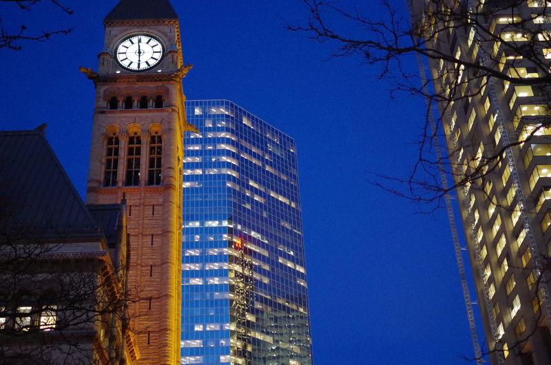 Old City Hall Clock Night Photography Urban Anarchy
