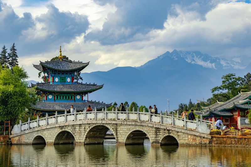 Black dragon pool, Lijiang, China Architecture Built Structure Water Cloud - Sky Mountain Bridge Travel Destinations First Eyeem Photo