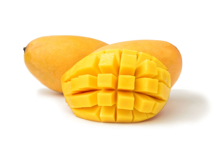 Mango fresh fruit with cubes and slices. Isolated on a white background and clipping path. Mango Isolated White Background Fruit Food And Drink Cut Tropical Organic Ripe Healthy Eating Sweet Dessert Juicy Slices Cubes Yellow Natural Freshness Object Macro Studio Nutrition Diet Gourmet Vegetarian Exotic Clipping Path South Citrus  Vitamins Closeup Pieces Sliced Stone CutOut Half Pattern Studio Shot Indoors  Close-up Food Cut Out No People Healthcare And Medicine Group Of Objects Pill SLICE Dieting