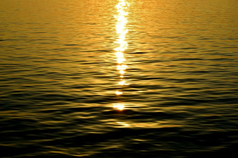 Full frame shot of water at sunset