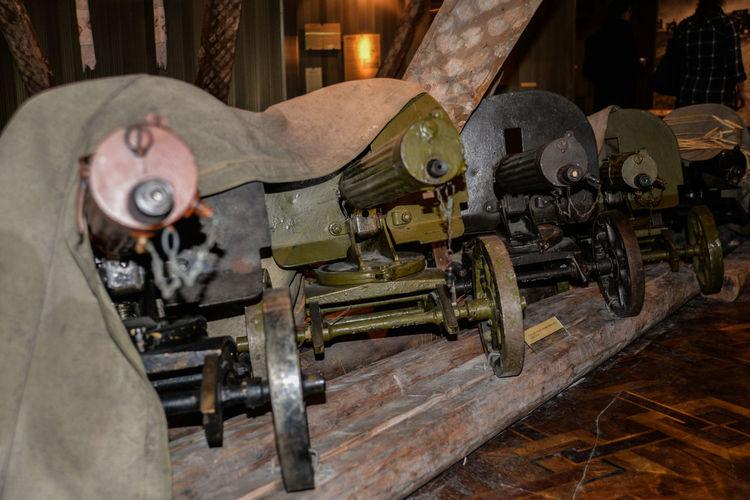 2ww Kyiv,Ukraine Machinegun Metal No People Oldfashioned War Museum Weapons