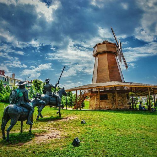 Adventure Buddies DonQuixote Donquijote Windmill Sky Clouds Good Beautiful Turkey Eskişehir