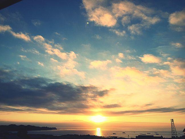 Sunset Sky Cloud - Sky Water Beauty In Nature Sea Scenics - Nature