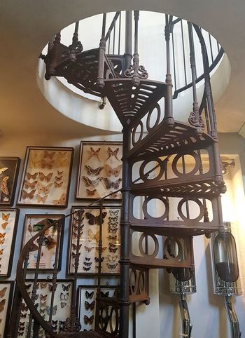 Indoors  No People Day Spiral Staircase Close-up Interior Design Interior Decorating Vintage Style Old Style Cafe Cafe Interior
