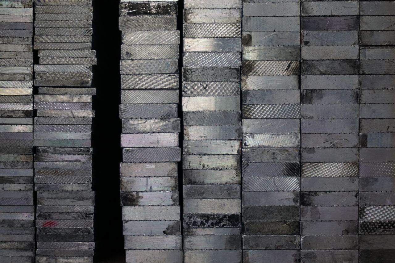 Stack Of Printing Press Tiles