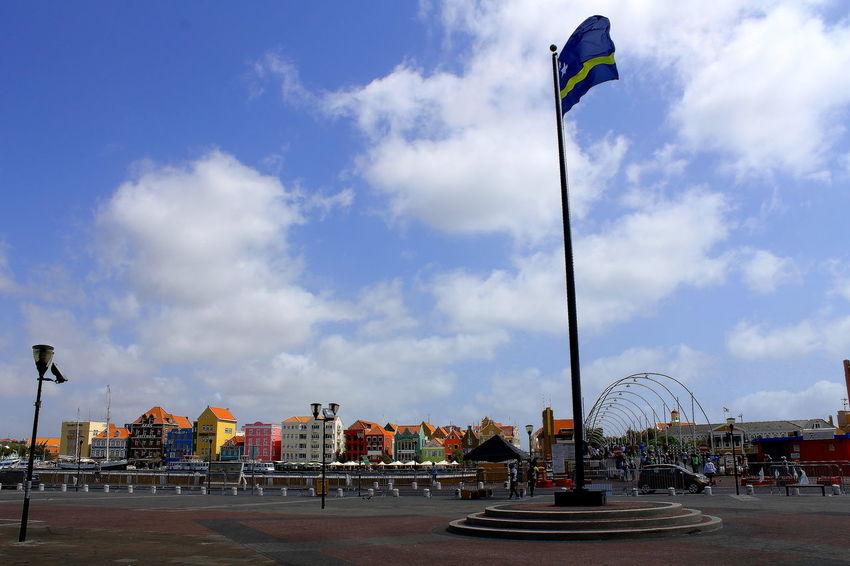 Architecture Bridge City Cloud - Sky Colorful Curacao Day Flag Handelskade Historical Building Houses Outdoors Sky Travel Destinations