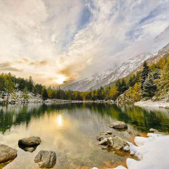 Autumn trees colors Trees Trees And Sky Trees Collection Autumn Colors Check This Out Enjoying Life Alps Aostavalley Sky Skyincolors Landscape_photography Storm Cloud EyeEm Best Shots Great Atmosphere Pastel Power EyeEm Best Shots - Nature Landscape_Collection Winter