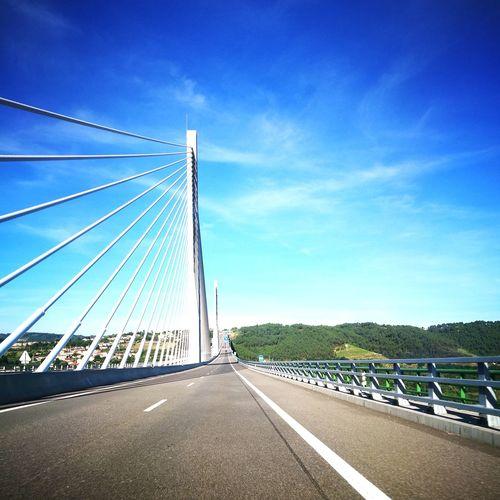 Bridge - Man Made Structure Transportation Connection Sky Suspension Bridge Road Architecture Bridge