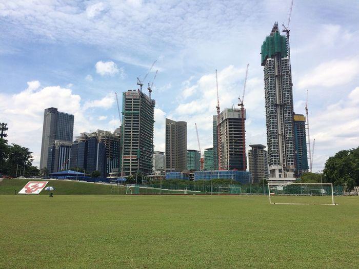 Skyline Kuala Lumpur Malaysia  Under Construction Field Booming IPhoneography