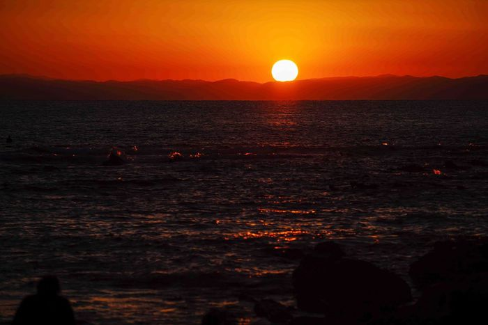 Last Sunset 2016 December 31 Sunset Sea Beauty In Nature Nature Sun Sky Horizon Over Water Byebye2016 Hayama Kanagawa Japan Kanagawa,japan