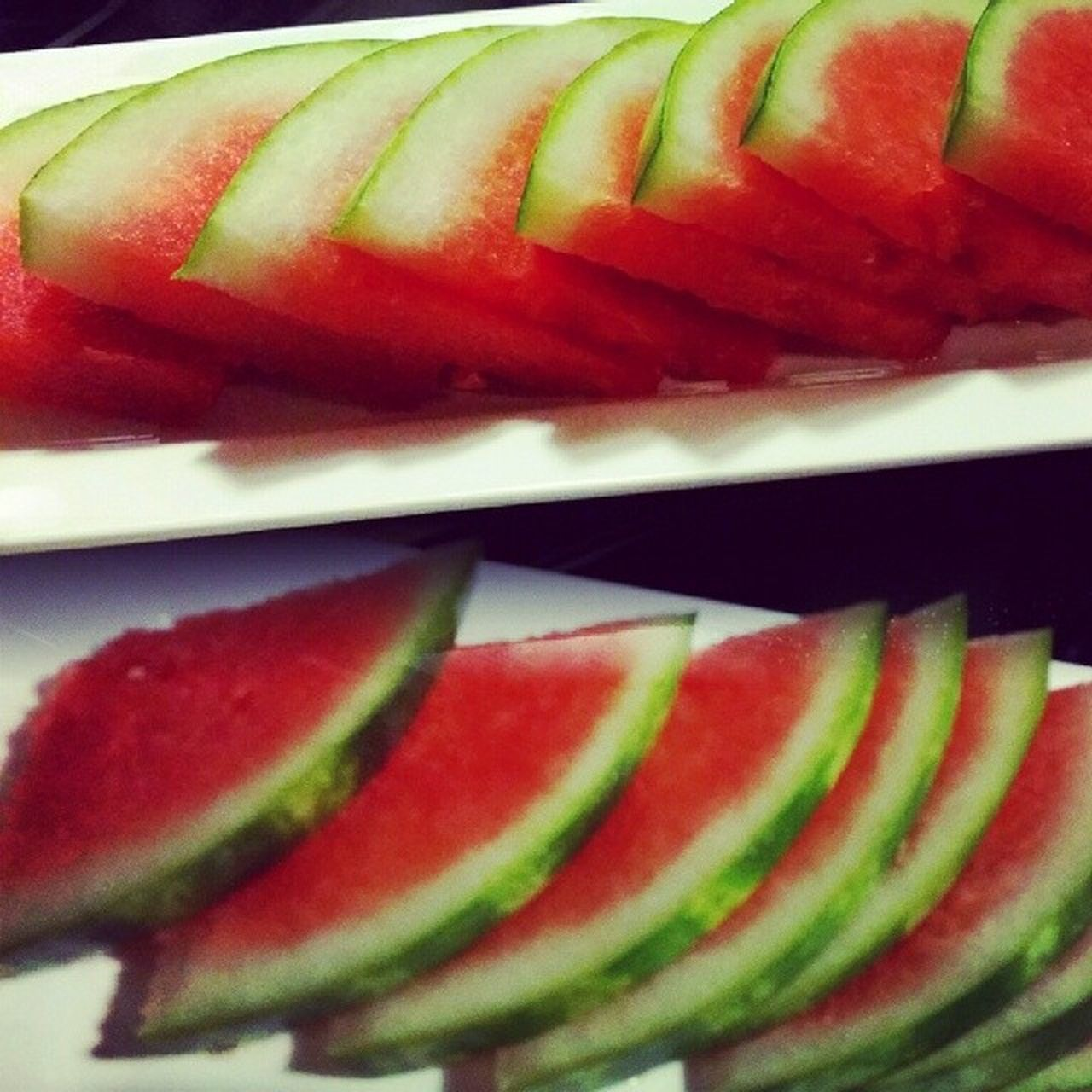 food and drink, freshness, slice, food, healthy eating, red, watermelon, ready-to-eat, indoors, fruit, plate, serving size, no people, close-up, temptation, healthy lifestyle, day