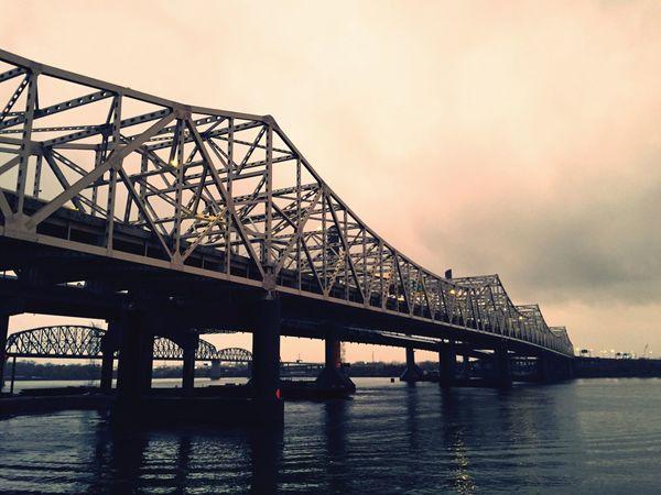 Sunset_collection Bridgeporn Bridge Bridges Louisville Louisville, Kentucky JFK Sunset Architecture Architecture_collection