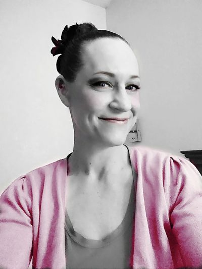 Millennial Pink pretty in color, happy day, Pink smiles Portrait Looking At Camera One Woman Only