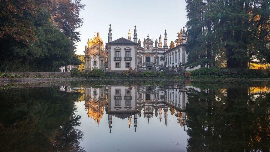 Travel Destinations Reflection Water Outdoors Building Exterior Tree Sky Architecture Casa Mateus.