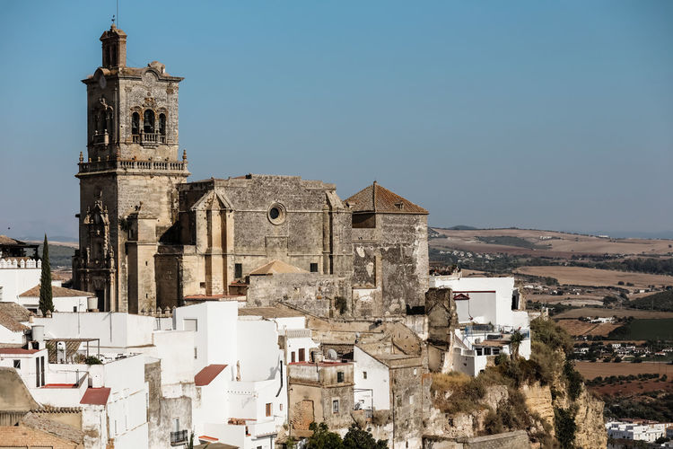 View of an old spanish village, beautiful landscape spain