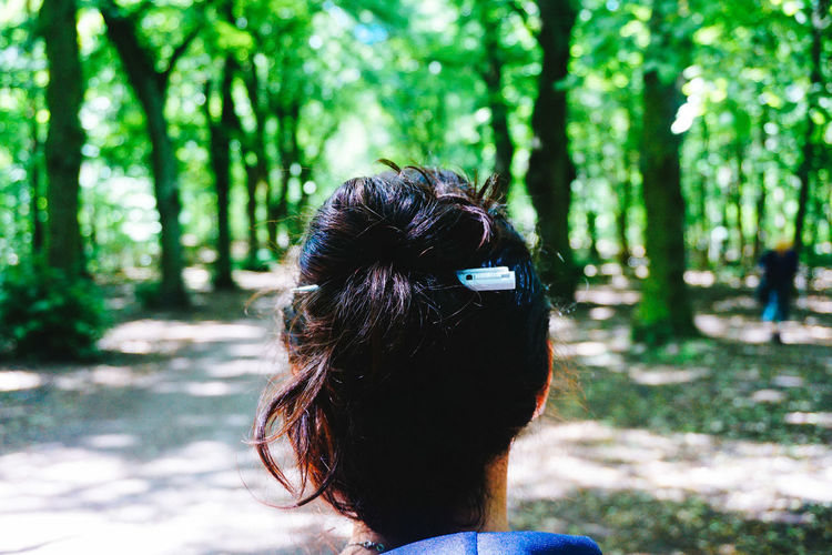 Adventure Day Explorer Focus On Foreground Forest Forrest Fun Hiking Leisure Activity Lifestyles Mammal Nature One Person Outdoors Pen People Real People Rear View Summer Teufelsberg Tree Walking Women Young Adult Young Women Sommergefühle