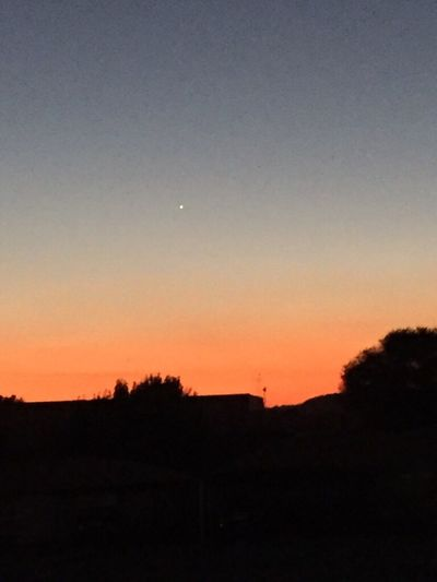 Evening Star Johannesburg Sunset Beauty In Nature Nature Is Art Natural Light Outside Evening Outdoors Perfect End To A Long Working Day Iphone6 IPhoneography Silhouette Black Foreground Dark Sky Orange Red Sunset Magnificent Sunset South Africa No People Clear Winter Evening Sky