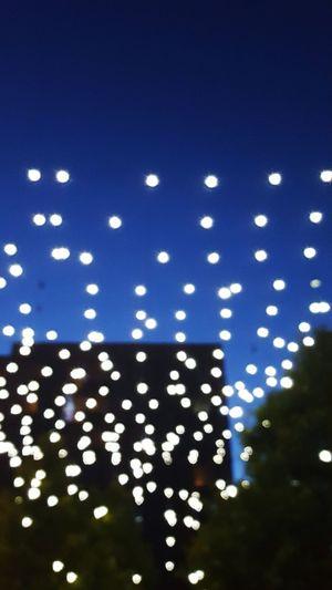 Night Illuminated Lights stars on earth