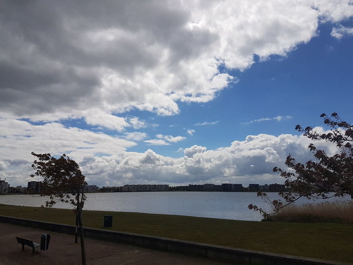 Cloud - Sky Water Sky Outdoors Day No People Sea Nature Beauty In Nature Tree Taking Photos Peace And Quiet Sky And Clouds Resting Place Taking Pictures Relaxing Enjoy The View Taking A Walk ✌ Lent2017 de Bergse Plaat