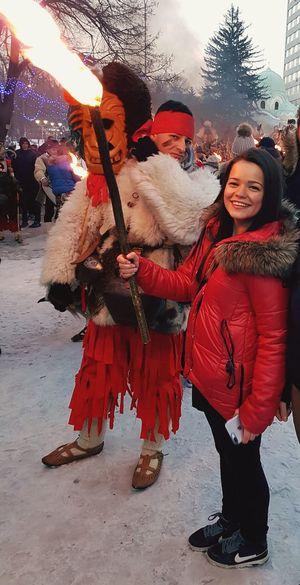 Surva Pernik Bulgaria 2017 Saturday Winter Festival Kukeri, Bulgaria Fire In My Hand 🤓🔥🎉 ThatsMe