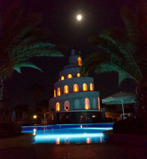 Night Illuminated Sky Architecture No People Building Exterior Built Structure Travel Destinations Moon