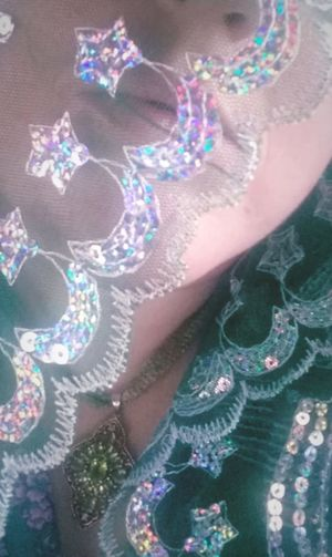 Green Green Color Sparkles Sequins Peridot Close-up