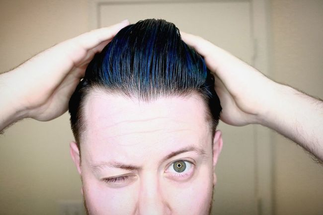Highlighting my new style Menshairstyle Menshaircut Menshair Highlights Bluehairdontcare