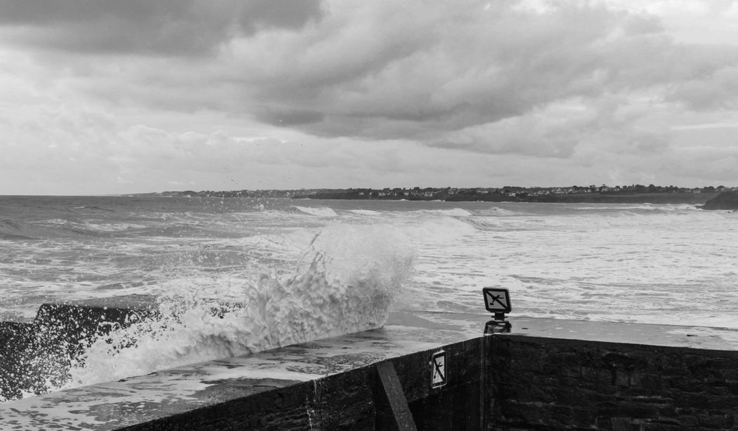 Bretagne Black And White Blackandwhite Water Sea Landscape_Collection Canon Life Is A Beach Diving Wave