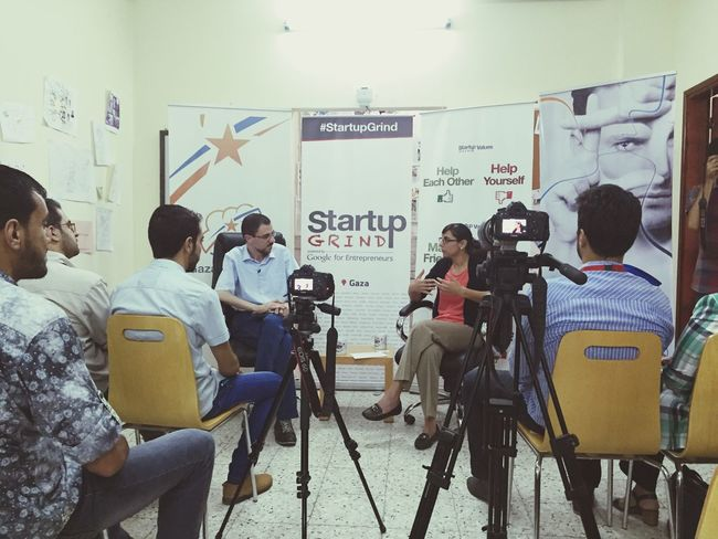 Startup grind launches in Gaza, and hosting Iliana! Startup Changing The World Entrepreneur Startupgrind Check This Out TheWeekOnEyeEM Gaza Gazastartups Now The Places I've Been Today